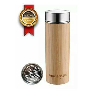 Bamboo Tumbler Removable Tea Infuser 16 Oz NEW